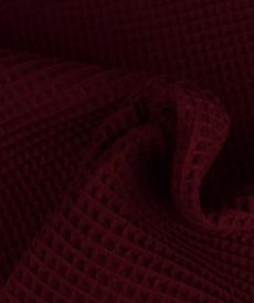 Tissu éponge nid d'abeilles coton bordeaux