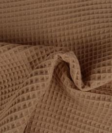 Tissu éponge nid d'abeilles coton rose ancien