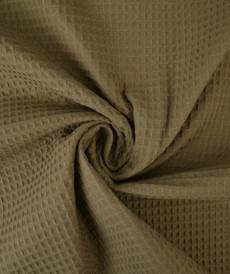 Tissu éponge nid d'abeilles coton taupe