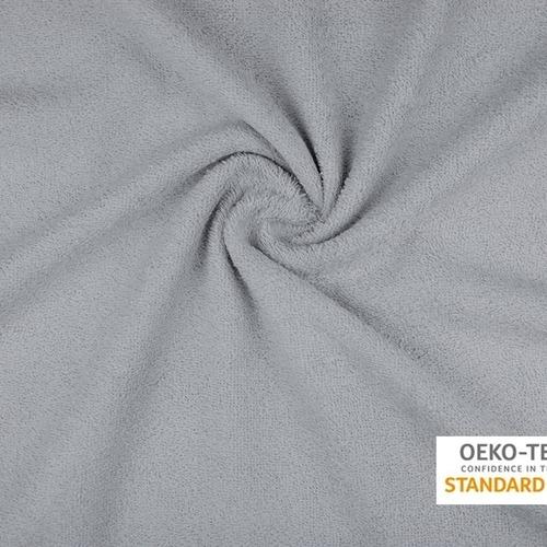 Tissu éponge coton gris perlé