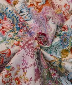 Tissu coton imprimé Orient Hilco (2.5€/10cm)