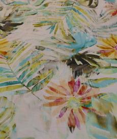 Tissu coton lin imprimé coloré Hilco