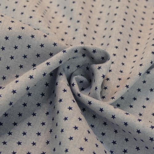 Tissu imprimé étoiles bleues Hilco