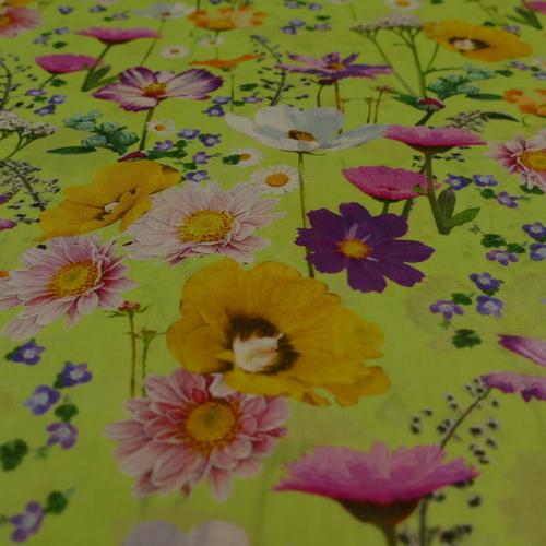 Voile de coton imprimé fleuri Hilco (2.5€/10cm)