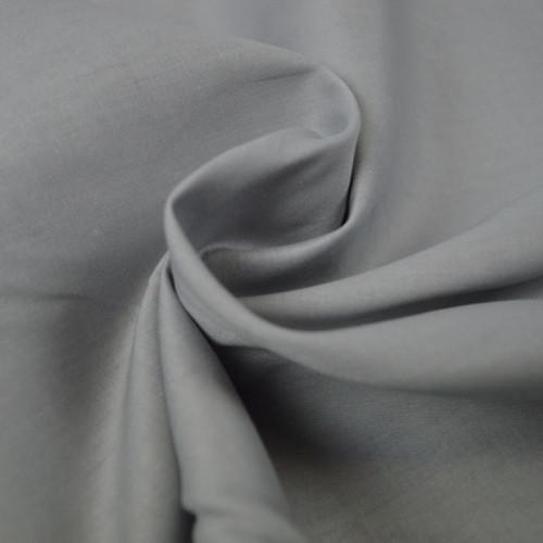 Popeline de coton gris perlé