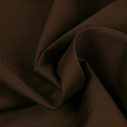 Popeline de coton marron (0.7€/10cm)