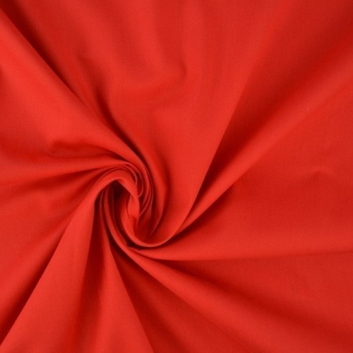 Popeline de coton rouge
