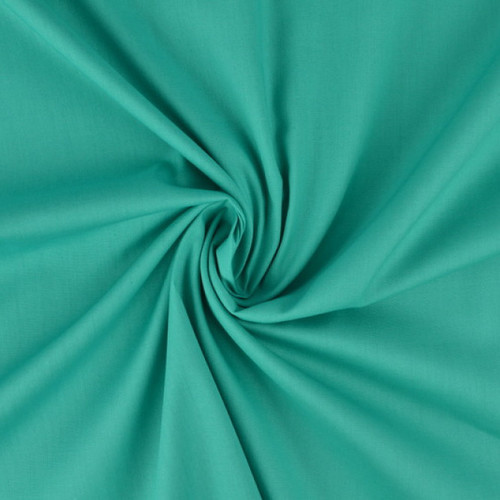 Popeline de coton turquoise