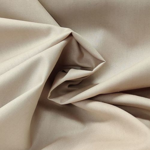 Popeline de coton beige (0.7€/10cm)