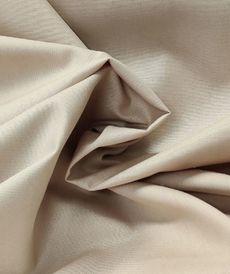 Popeline de coton beige
