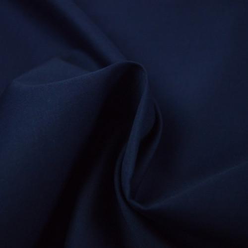 Popeline de coton marine 150gr (0.8€/10cm)
