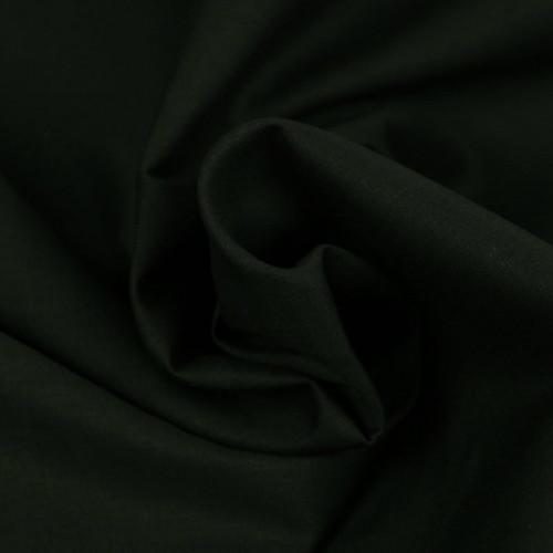 Popeline de coton noir 150gr (0.8€/10cm)