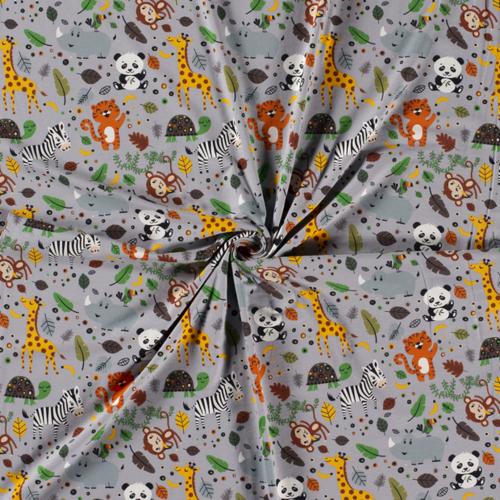 Jersey de coton safari couleur gris