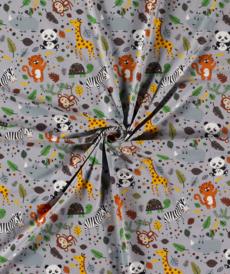 Jersey de coton safari couleur gris (6.95€/50cm)