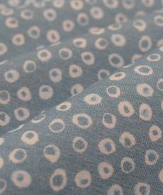 1 coupon 65cm Jersey de coton bleu à bulles Hilco