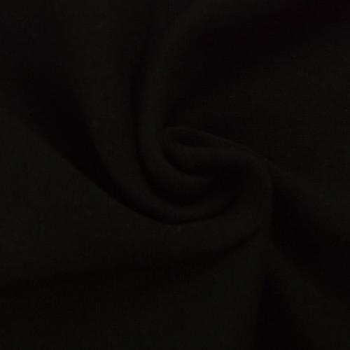 Bord côte en coton couleur noir