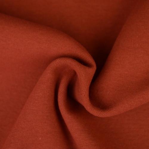 Bord côte en coton couleur brique (0.7€/10cm)