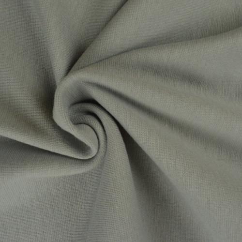 Bord côte en coton couleur gris clair