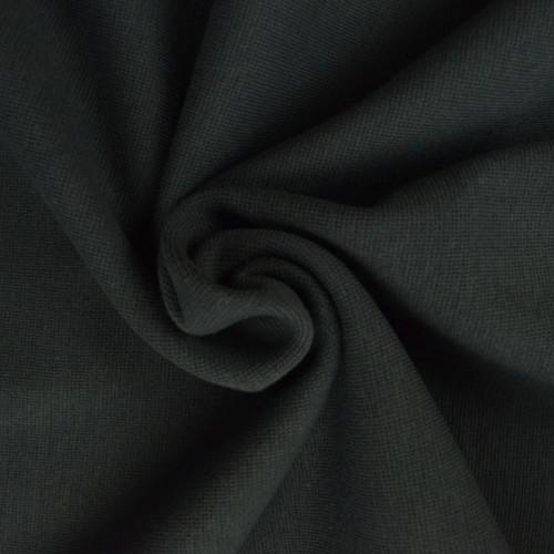 Bord côte en coton couleur gris foncé (0.7€/10cm)