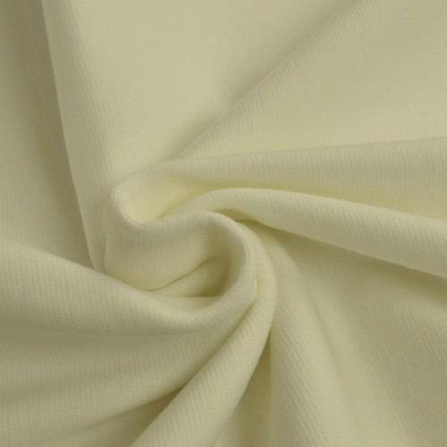 Bord côte en coton couleur ivoire