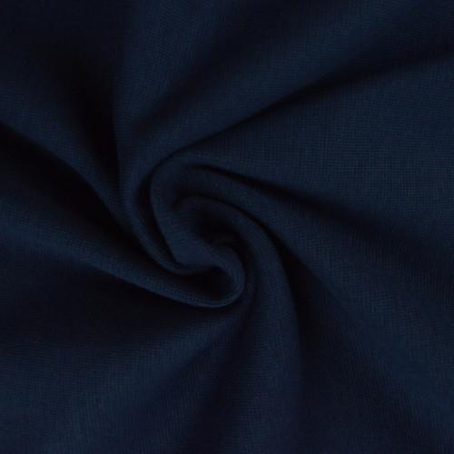 Bord côte en coton couleur marine (0.7€/10cm)