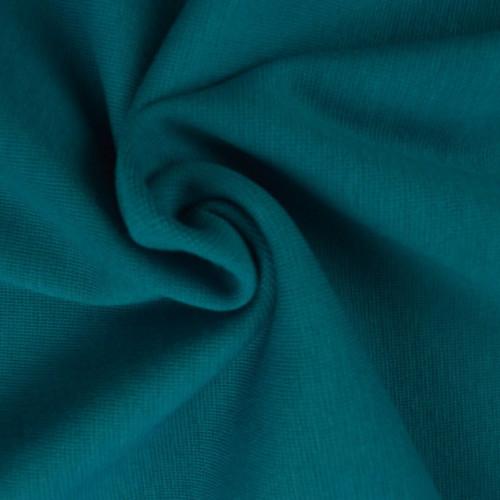 Bord côte en coton couleur pétrole clair