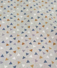 Toile enduite anti tâches imprimée pyramides ocre (1.5€/10cm)
