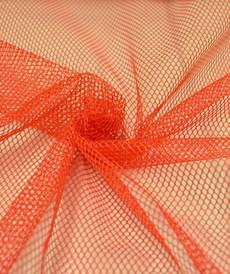Tissu Filet mesh rouge vendu 4.5€/m