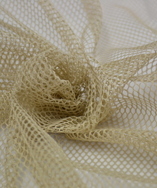 Tissu Filet mesh biege