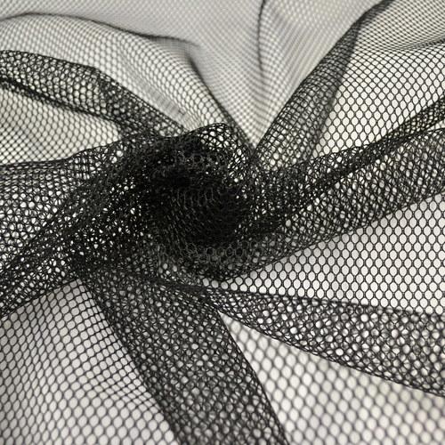 Tissu Filet mesh noir vendu 4.5€/m