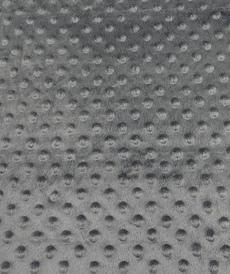 Minky à pois anthracite (0.99€/10cm)