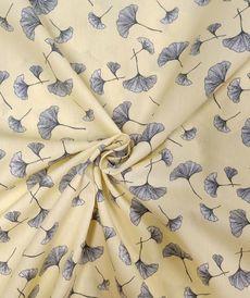 Popeline de coton jaune tendre Ginko