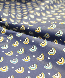 Coton enduit Arcol indigo ocre (6€/50cm)