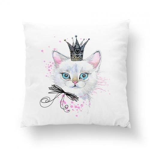 Panneau coton chat princesse