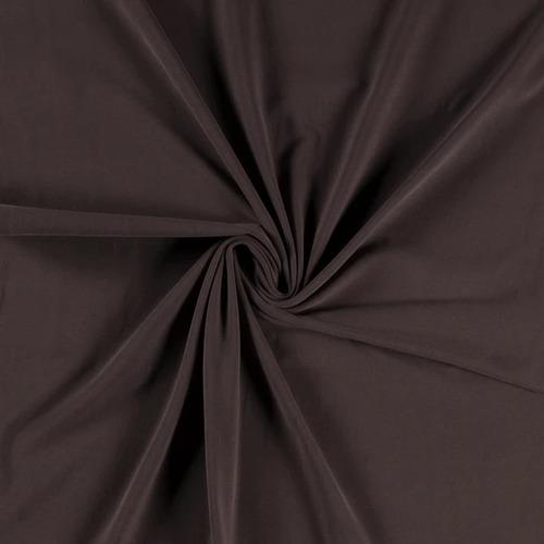 Jersey de coton brossé marron taupe  (1.15€/10cm)