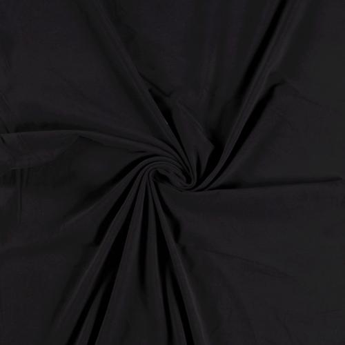 Jersey de coton brossé noir