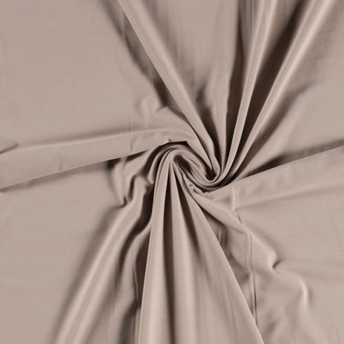 Jersey de coton beige taupé (1.15€/10cm)