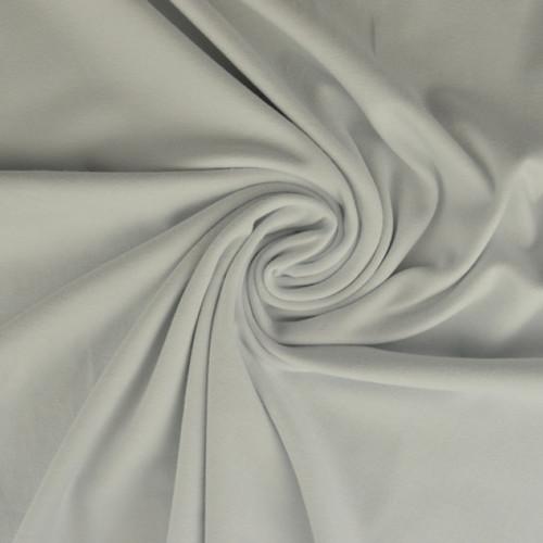 Jersey de coton uni blanc