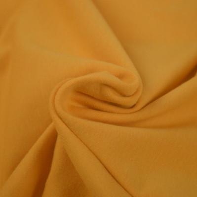 Jersey de coton uni ocre