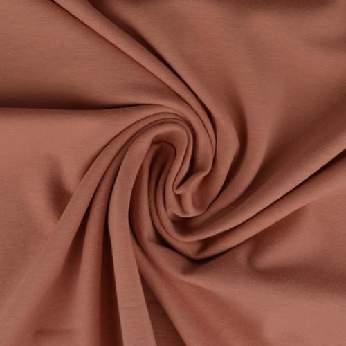 Jersey de coton uni vieux rose