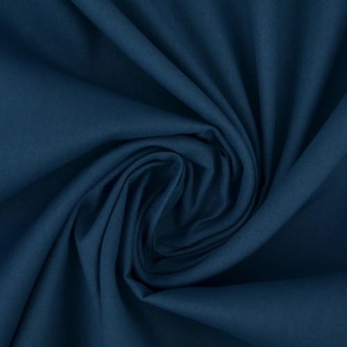 Popeline de coton bleu jeans
