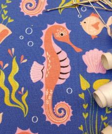 Jersey de coton Sea life bleu d'Hilco