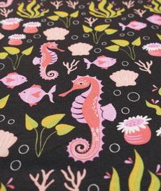 Jersey de coton imprimé Sea Life d'Hilco (2.1€/10cm)