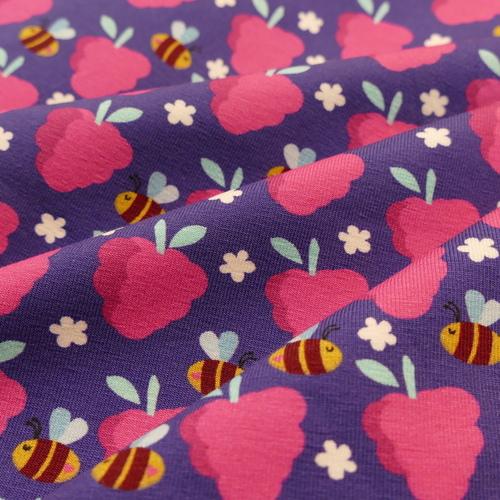 Jersey de coton imprimé Fresh fruits d'Hilco (2.2€/10cm)