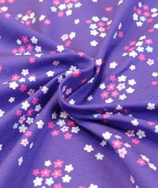 Jersey de coton imprimé Fleuri d'Hilco (2.2€/10cm)