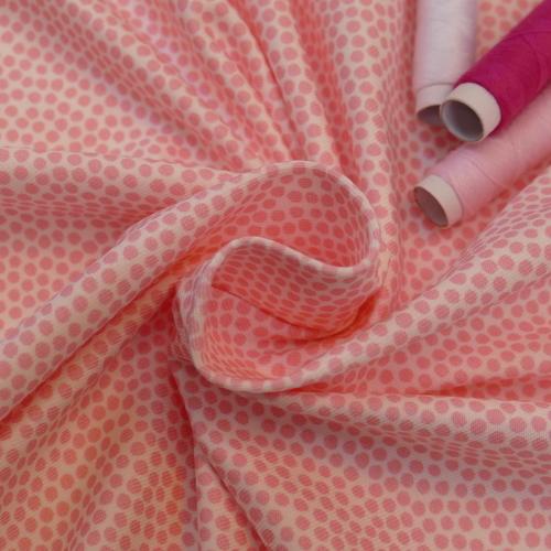 Jersey de coton à pois rose d'Hilco (2€/10cm)