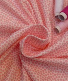 Jersey de coton à pois rose d'Hilco