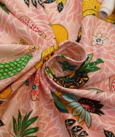 Jersey de coton imprimé fruits exotiques d'Hilco (2€/10cm)