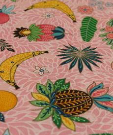 Jersey de coton imprimé fruits exotiques d'Hilco
