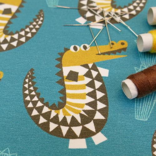 Jersey de coton crocodiles d'Hilco (2.1€/10cm)